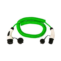 Cable 5m coil con extremo vehiculo modo 3 tipo 2 hembra y extremo WallBox modo 3 tipo 2 macho monofasico 16A Simon
