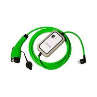 Cable 5m liso con extremo vehiculo modo 3 tipo 1 hembra y extremo WallBox standard schuko macho monofasico 10A Simon
