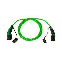 Cable 5m liso con extremo vehiculo modo 3 tipo 2 hembra y extremo WallBox modo 3 tipo 2 macho trifasico 32A Simon