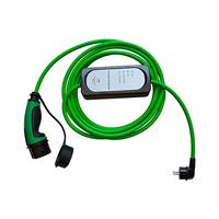 Cable 5m liso con extremo vehiculo modo 3 tipo 2 hembra y extremo WallBox standard schuko macho monofasico 10A Simon