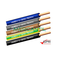 Cable Rigido de PVC 1mm 300/500V H05V-U CPR - 200 Metros
