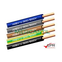 Cable Rigido de PVC 1mm 300/500V H05V-U CPR - 200 Metros