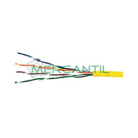 Cable de Red Categoria 5E UTP Amarillo LSZH EXCEL - Caja 305 metros