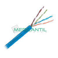 Cable de Red Categoria 6 U/UTP 4 Pares Cubierta Azul LSZH Dca LEGRAND - Bobina 500 metros