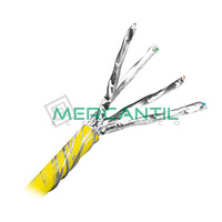 Cable de Red Categoria 6A F/UTP 4 Pares Cubierta Amarillo LSZH Dca LEGRAND - Bobina 500 metros