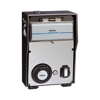 Caja basica con 2 tomas 1 schuko 16A 3.6kW + 1 schuko 32A 7.2kW monofasico medidor energia certificado ZE modo 1/2/3 tipo 2 IP54 Simon