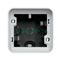 Caja de Superficie IP55 Simple 1+1 Entradas Cubyko HAGER