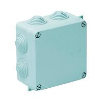 Caja de superficie estanca con conos 100x100x55 IP55 Solera