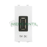 Cargador USB 2A 1 Modulo Zenit NIESSEN - Color Blanco