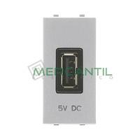 Cargador USB 2A 1 Modulo Zenit NIESSEN - Color Plata