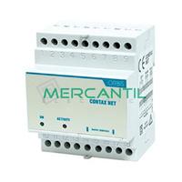 Concentrador de Impulsos para Contadores DIN 4 Modulos CONTAX NET ORBIS