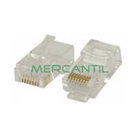 Conector Macho RJ45 Categoria 5E UTP EXCEL