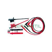 Conjunto de 2 Cables, Puntas y Cocodrilos 425 HT INSTRUMENTS