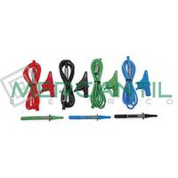 Conjunto de 4 Cables, 4 Cocodrilos y 3 Puntas UNIVERSALKITG3 HT INSTRUMENTS