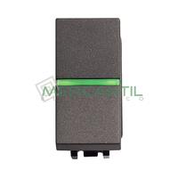 Conmutador con Lampara LED Incorporada 1 Modulo Zenit NIESSEN - Color Antracita