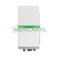 Conmutador con Lampara LED Incorporada 1 Modulo Zenit NIESSEN - Color Blanco