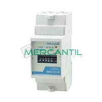 Contador de Energia Rail DIN Analogico Monofasico 32A CONTAX 3221 S0 ORBIS