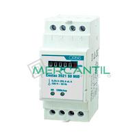 Contador de Energia Rail DIN Analogico Monofasico con Certificado MID 25A CONTAX 2521 S0 MID ORBIS