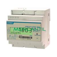 Contador de Energia Rail DIN Digital Monofasico 60A CONTAX D-6041-BUS ORBIS
