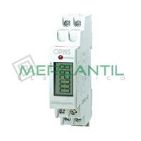 Contador de Energia Rail DIN Digital Monofasico con Display LCD 25A CONTAX D-2511 S0 ORBIS