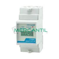 Contador de Energia Rail DIN Digital Monofasico con Display LCD 32A CONTAX D-3221 S0 ORBIS