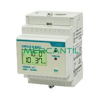 Contador de Energia Rail DIN Digital Monofasico con Display LCD 63A CONTAX D-6331 S0 ORBIS