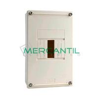 Cuadro de Abonado de Superficie 1 Fila con ICP32 y 4 Modulos Pragma Basic SCHNEIDER ELECTRIC - Sin Puerta