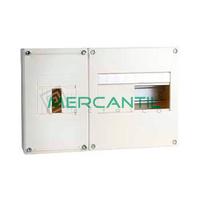 Cuadro de Abonado de Superficie 1 Fila con ICP32 y 8 Modulos Pragma Basic SCHNEIDER - Sin Puerta