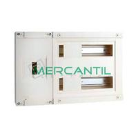 Cuadro de Abonado de Superficie 2 Filas con ICP40 y 24 Modulos Pragma Basic SCHNEIDER - Sin Puerta