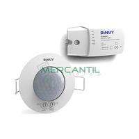 Detector de Movimiento Constante Empotrado en Techo para Luminarias 1/10Vcc IP20 360º DINUY