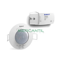 Detector de Movimiento Constante Empotrado en Techo para Luminarias DALI IP20 360º DINUY