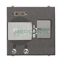Detector de Movimiento Empotrado 110º 5 Metros 2 Modulos Zenit NIESSEN - Color Antracita
