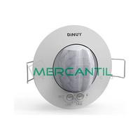 Detector de Movimiento Empotrado en Techo IP40 360º DINUY