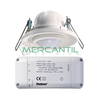 Detector de Movimiento Empotrado sobre Techo 360º LUXA-103 THEBEN