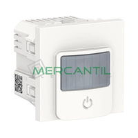 Detector de Movimiento con Interruptor 10A 2 Modulos New Unica SCHNEIDER ELECTRIC