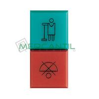 Difusor Rojo y Verde para Hotel Iluminable 1 Modulo Axolute BTICINO