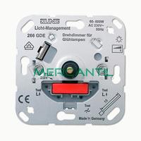 Dimmer Giratorio con Conmutador Incandescencia 60-600W LS990 JUNG - Embornamiento Automatico
