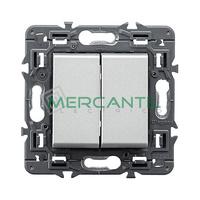 Doble Conmutador 10AX Valena Next LEGRAND - Color Aluminio