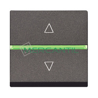 Interruptor Electronico para Persianas 2 Modulos Zenit NIESSEN - Color Antracita