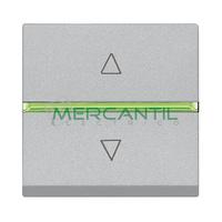 Interruptor Electronico para Persianas 2 Modulos Zenit NIESSEN - Color Plata