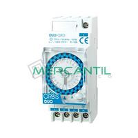 Interruptor Horario Analogico Modular Semanal DUO QRS ORBIS - Con Reserva