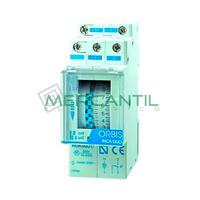Interruptor Horario Analogico Modular Semanal INCA DUO QRS ORBIS - Con Reserva