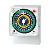 Interruptor Horario Analogico Trascuadro Diario 2x10 CRONO QRD ORBIS - Con Reserva