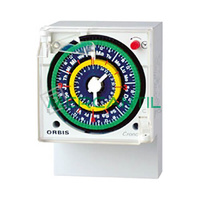 Interruptor Horario Analogico Trascuadro Semanal CRONO QRS ORBIS - Con Reserva
