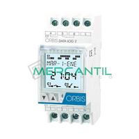 Interruptor Horario Digital Modular Diario/Semanal DATA LOG 2 ORBIS - 2 Circuitos