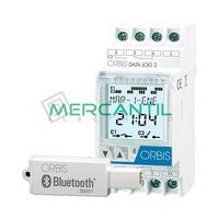 Interruptor Horario Digital Modular Diario/Semanal con Bluetooth DATA LOG 2 ORBIS - 2 CircuitoS