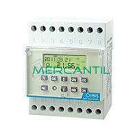 Interruptor Horario Digital Modular Diario/Semanal/Mensual/Anual DATA MULTI ANUAL ORBIS - 4 Circuitos