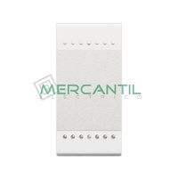 Interruptor Iluminable Basculante 1 Modulo Living Light BTICINO - Embornamiento Automatico