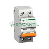 Interruptor Magnetotermico 1P+N 10A Sector Vivienda SCHNEIDER