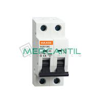Interruptor Magnetotermico 2P 20A 500Vcc SC6 Industrial RETELEC